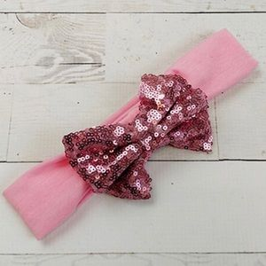 Other - Girls pink bow headband